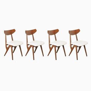 Sedie da pranzo di Louis van Teeffelen per AWA Meubelfabriek, anni '60, set di 4