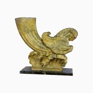 Skulpturale Tischlampe, 1940er