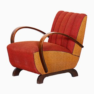 Art Deco Beech Armchair by Jindřich Halabala for UP Závody, 1930s