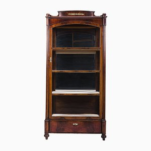 Antique German Mahogany & Glazed Cabinet