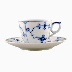 Blaues Vintage Kaffeetassenset von Royal Copenhagen