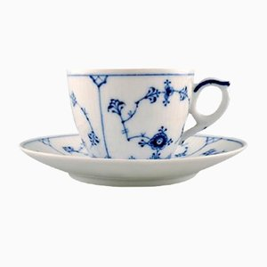 Vintage Blue Coffee Cup Set from Royal Copenhagen