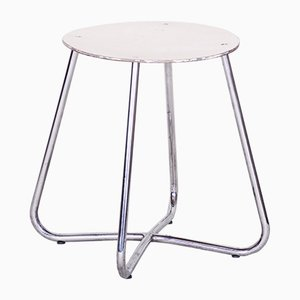 Chrome Stool from Vichr & Spol, 1930s