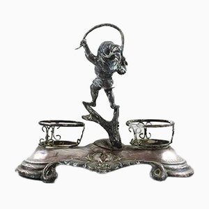 Antique Swedish Silver Inkwell, 1890s
