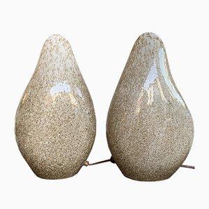 Italian Blown Murano Glass Lamps from La Murrina, 1970s, Set of 2