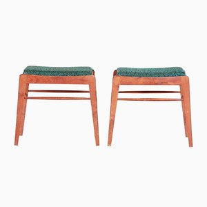 Green Beech Stools, 1960s, Set of 2