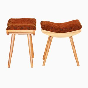 Ash Stools, 1960s, Set of 2