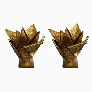 Französische Tischlampen aus Bronze von Maison Charles, 1970er, 2er Set
