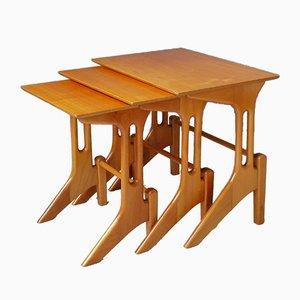 Tavolini ad incastro in legno, anni '50