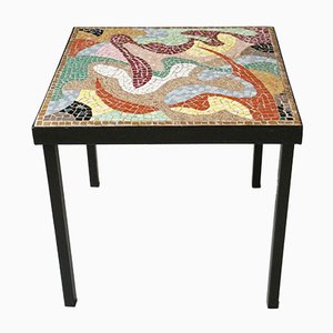 Multicolored Mosaic Side Table, 1960s