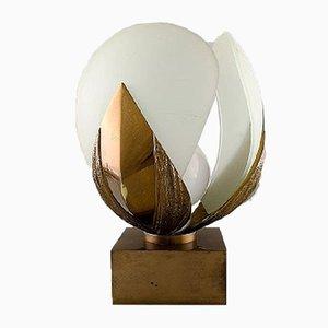Lampe de Bureau Mid-Century en Bronze par Chrystiane Charles pour Maison Charles