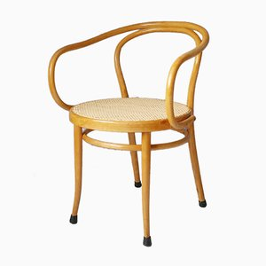 Beistellstuhl aus Bugholz & Rattan von Thonet für Ligna, 1960er