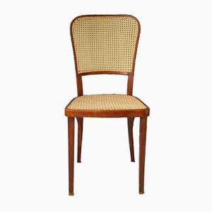 Antique Art Nouveau Rattan Dining Chair from Thonet