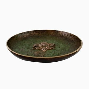 Art Deco Danish Bronze Dish from Tinos, 1940s