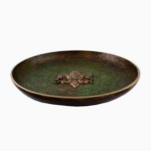 Art Deco Danish Bronze Dish from Tinos, 1940s