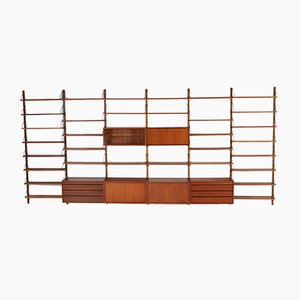 Large Teak Wall Unit by Poul Cadovius for Cado, 1960s