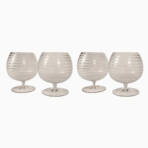 Art Deco Champagne Glasses, 1930s, Set of 5