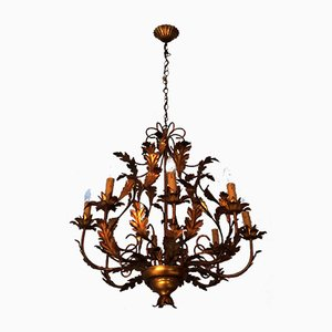 Large Gilt Chandelier, 1960s