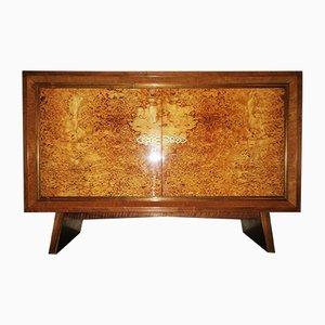 Mueble Art Déco de nogal y latón, años 30