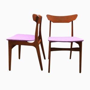 Esszimmerstühle aus Teak von Schiønning & Elgaard für Randers Møbelfabrik, 1960er, 2er Set