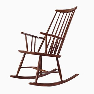 Rocking-chair Scandinave, années 60