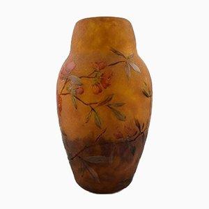 Antike Vase aus Kunstglas im Jugendstil von Daum Nancy