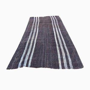 Handgewebter türkischer Kelim Teppich aus Ziegenhaar, 1970er