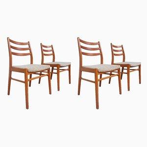 Esszimmerstühle im skandinavischen Stil, 1970er, 4er Set