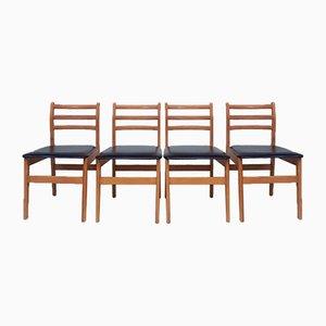 Dänische Esszimmerstühle, 1970er, 4er Set