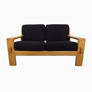 Finnisches 2-Sitzer Sofa mit Gestell aus Eiche von Esko Pajamies für Asko, 1960er
