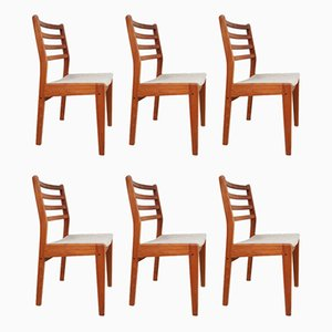 Danish Teak Dining Chairs, 1970s, Set of 6