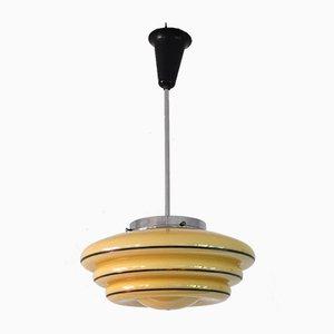 Dänische Vintage Art Déco Deckenlampe aus Opalglas, 1930er