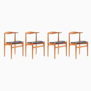 Esszimmerstühle von Hans J. Wegner für Fritz Hansen, 1960er, 4er Set