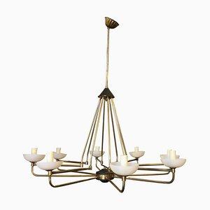 Lámpara de araña italiana moderna de Stilnovo, años 50