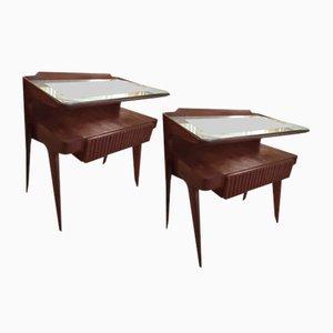 Comodini di Paolo Buffa, anni '50, set di 2