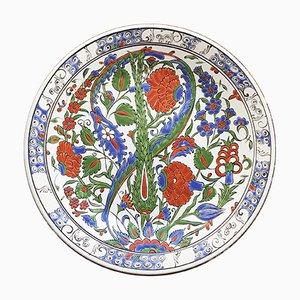 Piatto vintage in ceramica di Lindos, Grecia