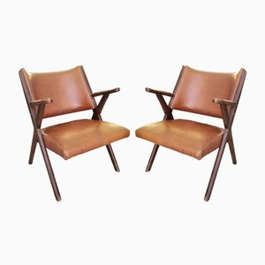 Mid-Century Lounge Chairs by Hans J. Wegner for Dal vera, Set of 2