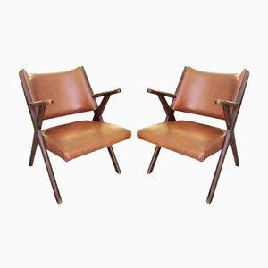 Mid-Century Sessel von Hans J. Wegner für Dal vera, 2er Set