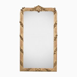 Antique French Giltwood-Framed Mirror
