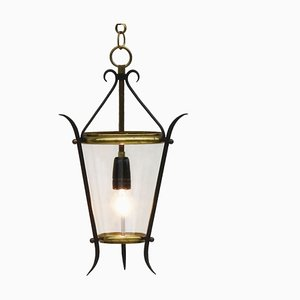 Französische Mid-Century Laternenlampe, 1950er
