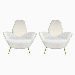 Italian Lounge Chairs from ISA Bergamo, 1960s, Set of 2