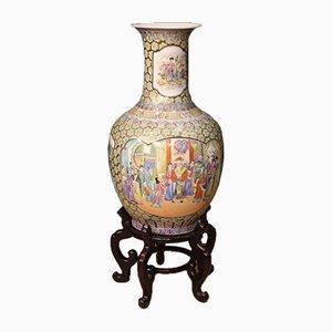 Jarrón de cerámica esmaltada, años 50