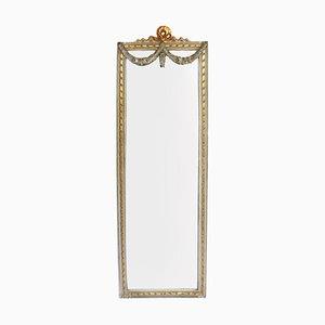 Antiker französischer Spiegel mit lackiertem Rahmen