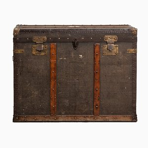 Vintage Spanish Leather Traveling Trunk by Juan Miquel