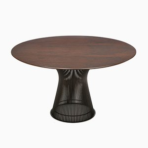 Rosewood & Bronze Dining Table by Warren Platner for Knoll Inc. / Knoll International, 1960s