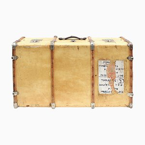 Vellum Leather Suitcase, 1920s