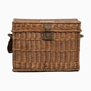 Antique French Wicker Basket, 1910s