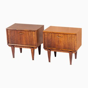 Danish Teak Nightstands, 1950s, Set of 2
