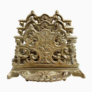 Antique Art Nouveau Bronze Letter Holder