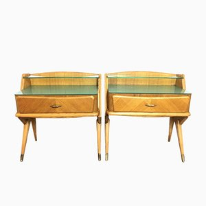 Vintage Italian Nightstands, 1950s, Set of 2